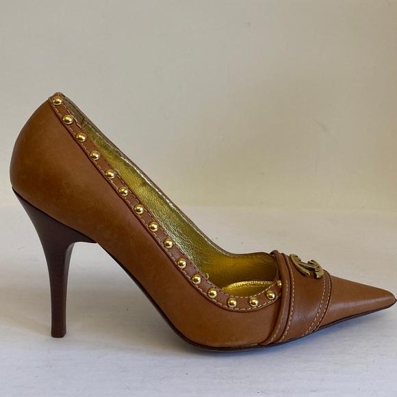 Just cavali leather classic studded pump 39.5 $800